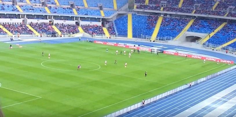 Mecz Polska - Białoruś na Stadionie Śląskim; źródło: youtube /