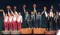 Medalistki floretu druzynowego kobiet. Z lewej Polki