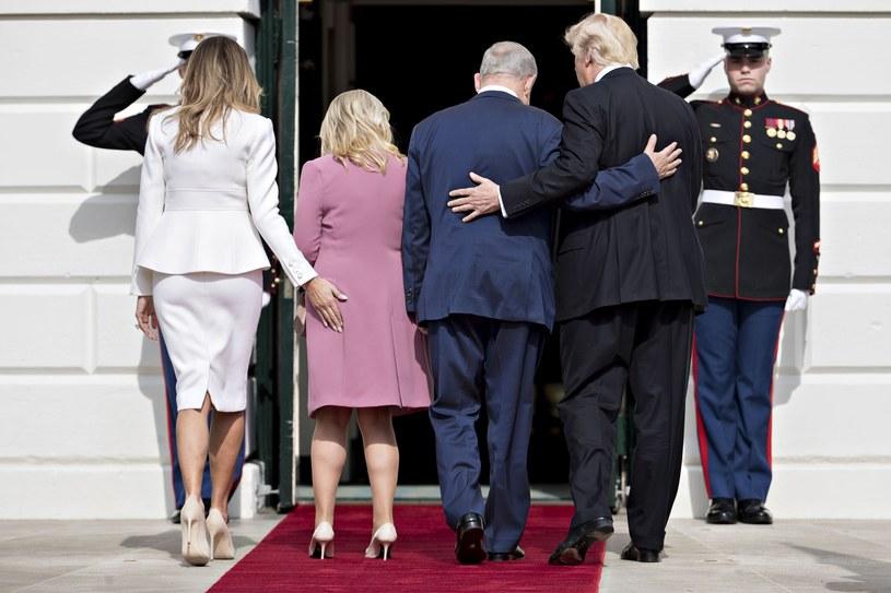 Melania i Donald Trumpowie wraz z Benjaminem i Sarą Netanjahu /East News
