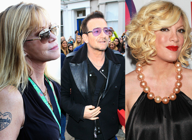 Melanie Griffith, Bono, Tori Spellnig /Getty Images