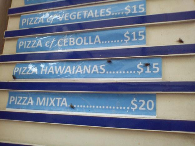 Menu kubańskiego fast-foodu odstrasza, ale jedzenie jest smaczne fot. Artur Wróblewski /&nbsp