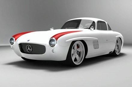 Mercedes 300 SL gullwing panamericana replica /
