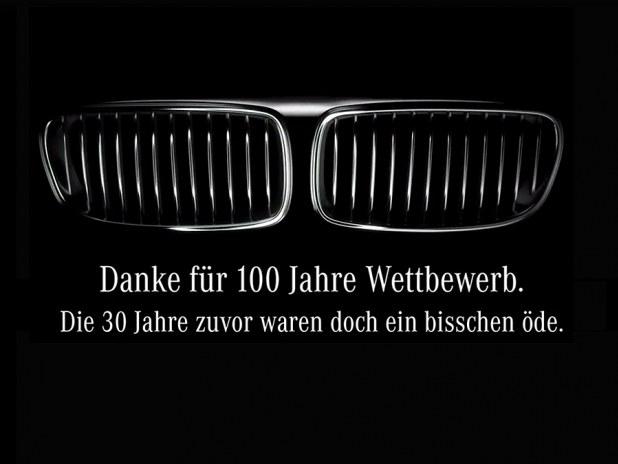 Mercedes nabija się z BMW /
