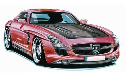 Mercedes SLS od Lorinsera /