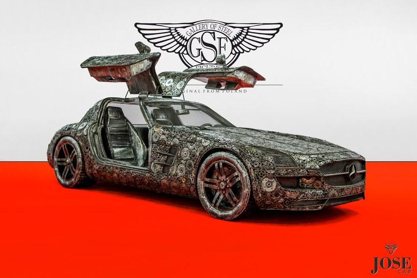 Mercedes SLS stworzony ze złomu /