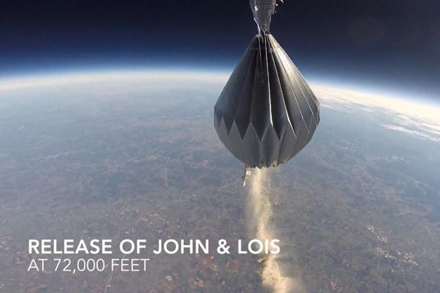 Mesoloft proponuje transport skremowanych szczątków na wysokość 32 kilometrów. /YouTube