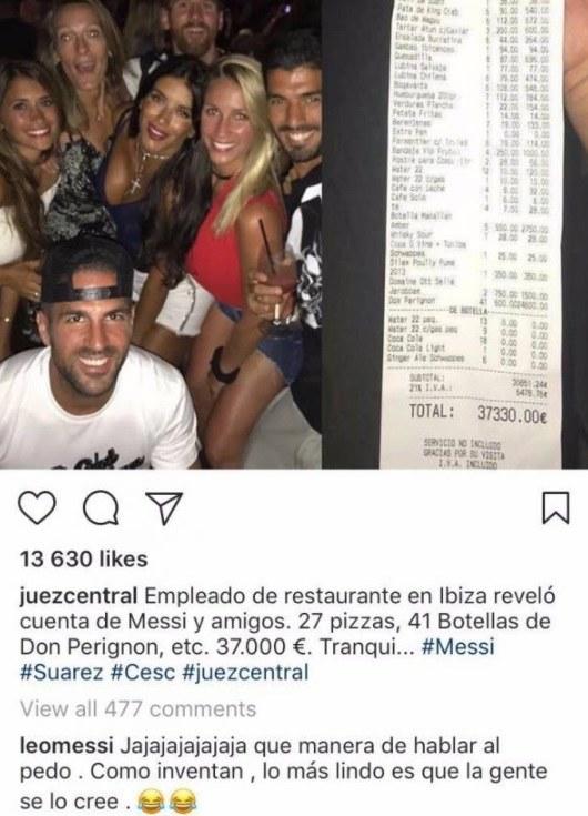 Messi odniósł się do sensacyjnych doniesień na swój temat /Instagram