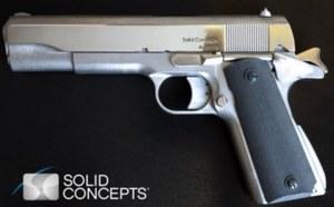 Metalowy pistolet z drukarki 3D