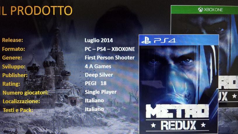 Metro Redux - fragment karty produktu znaleziony na stronie ps4daily.com /materiały prasowe