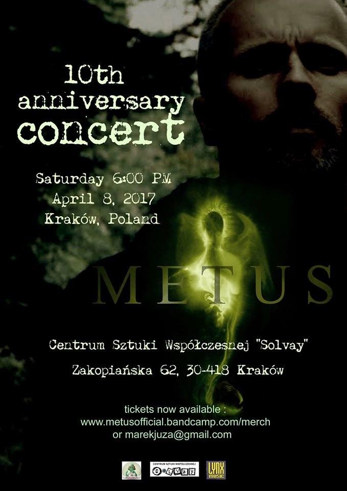 Metus zaprasza na koncert z okazji 10-lecia działalności zespołu /