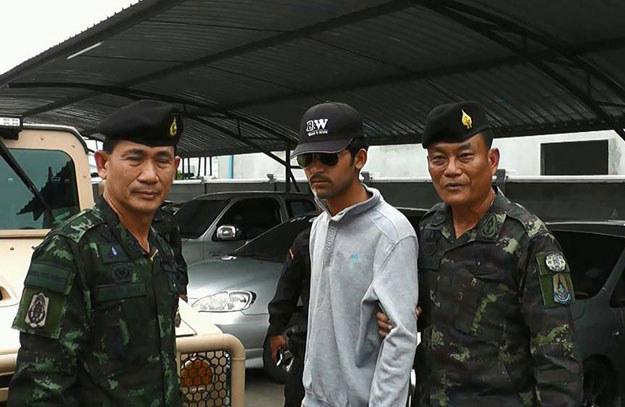Mężczyzna podejrzany o udział w zamachu został zatrzymany na granicy fot. Thairath /AFP