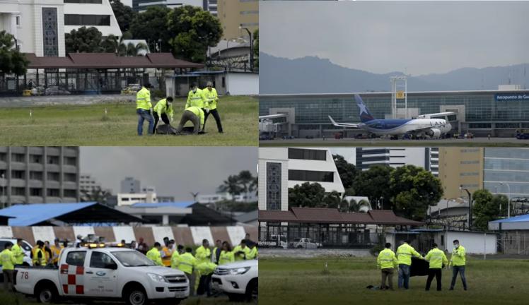Mężczyźni wypadli z samolotu lecącego do Nowego Jorku (kadry z nagrania zamieszczonego na stronie eluniverso.com) /