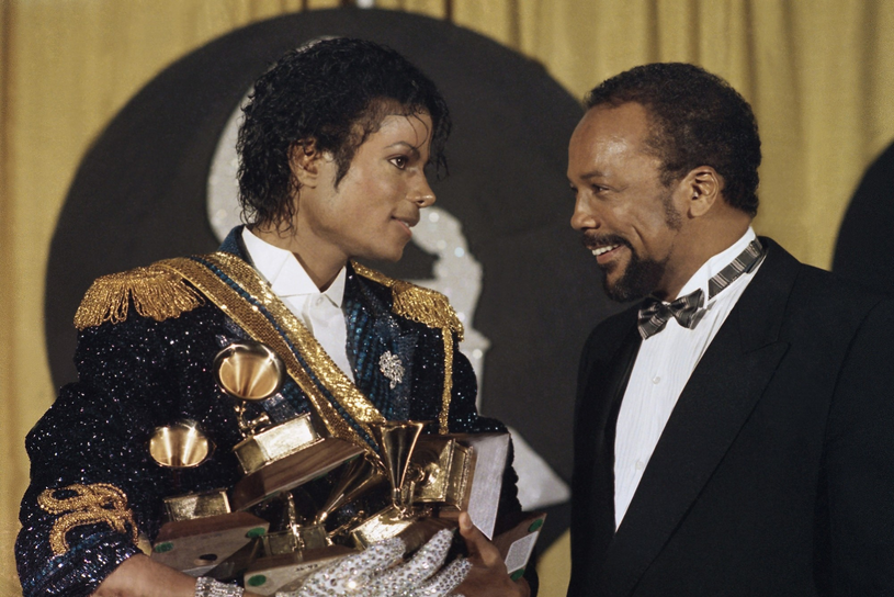 Michael Jackson i Quincy Jones /AP Photo/Doug Pizac/Saxon /East News