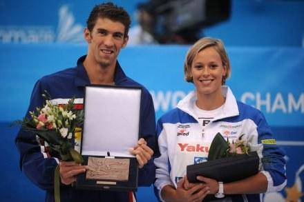 Michael Phelps i Federica Pellegrini /AFP