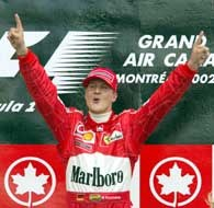 Michael Schumacher na najwyższym podium po raz 59.