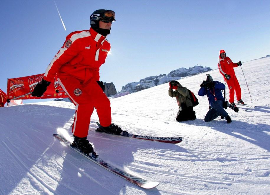 Michael Schumacher na stoku, zdjęcie ze stycznia 2006 roku /Rainer Jensen /PAP/EPA