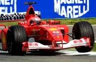 Michael Schumacher nie dał szans rywalom na Imola