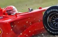Michael Schumacher wystartuje z pierwszego pola startowego