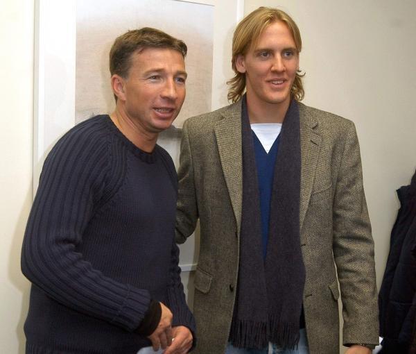 Michael Thwaite (z prawej) wciąż nie jest graczem Wisły/fot. Tomasz Markowski /Agencja Przegląd Sportowy