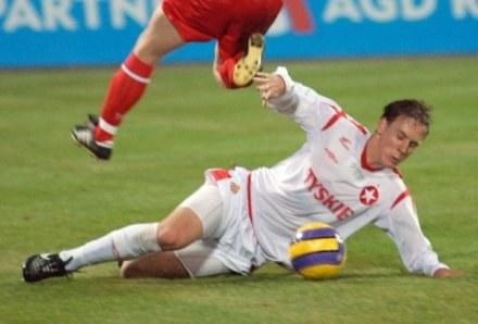 Michael Thwaite znalazł się w trudnej pozycji, FOT. Łukasz Laskowski /Agencja Przegląd Sportowy