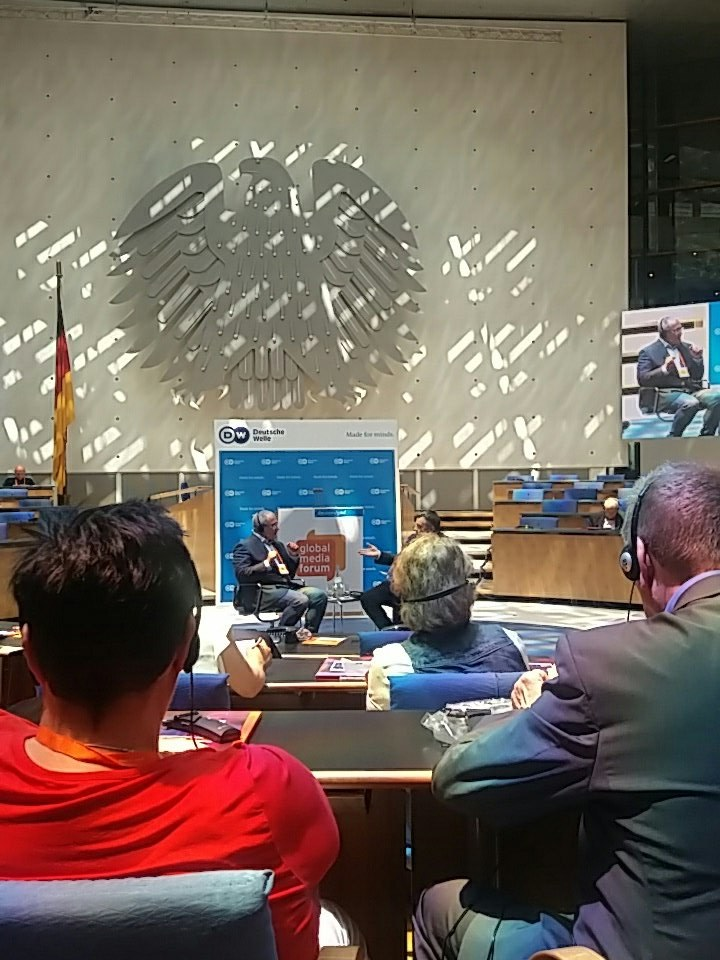 Michaił Chodorkowski podczas Global Media Forum w Bonn /Ewelina Karpińska-Morek /INTERIA.PL