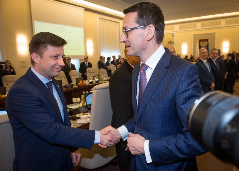 Michał Dworczyk i Mateusz Morawiecki /Jacek Domiński /Reporter
