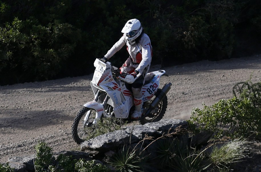 Michał Hernik na trasie Rajdu Dakar //FELIPE TRUEBA /PAP/EPA