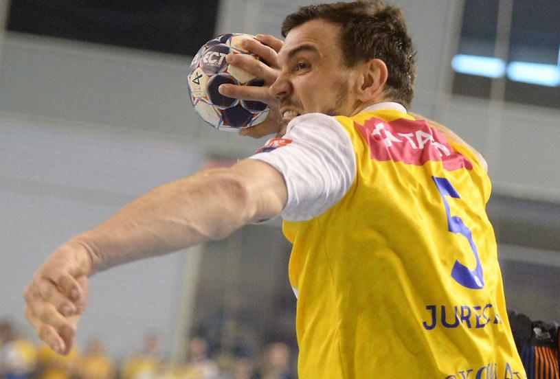 Michał Jurecki z Vive Tauronu Kielce /Piotr Polak /PAP