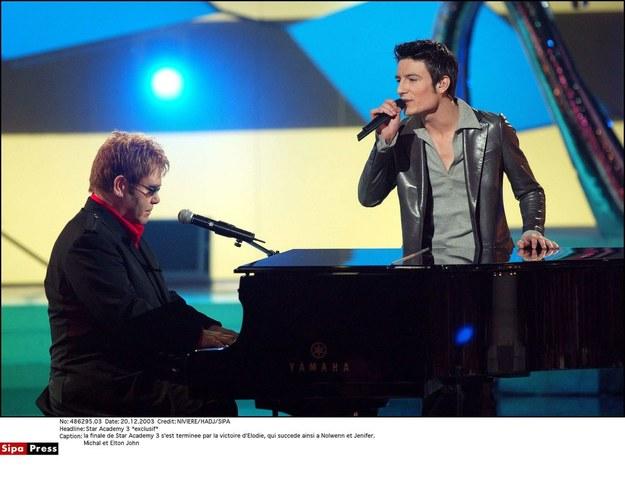 Michał Kwiatkowski i Elton John /- /East News