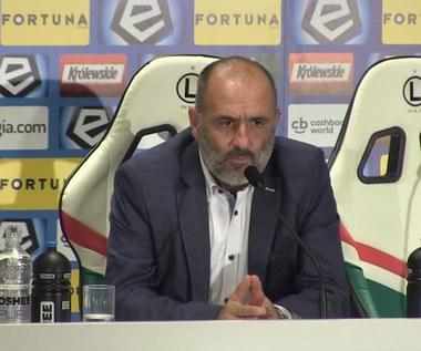 Michał Probierz po meczu z Legią (0-1). Wideo