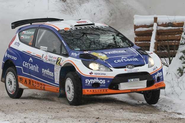 Michał Sołowow  / Maciek Baran (Ford Fiesta S2000)   na trasie rajdu /