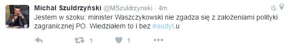 Michał Szułdrzyński na Twitterze /Twitter