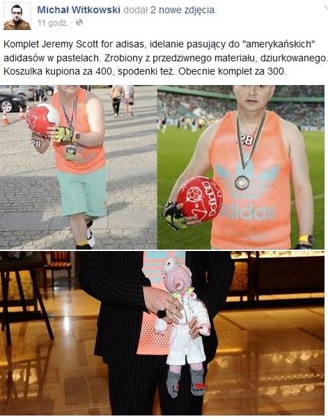 Michał Witkowski wyprzedaje ubrania /Screen z Facebooka Michał Witkowski /INTERIA.PL
