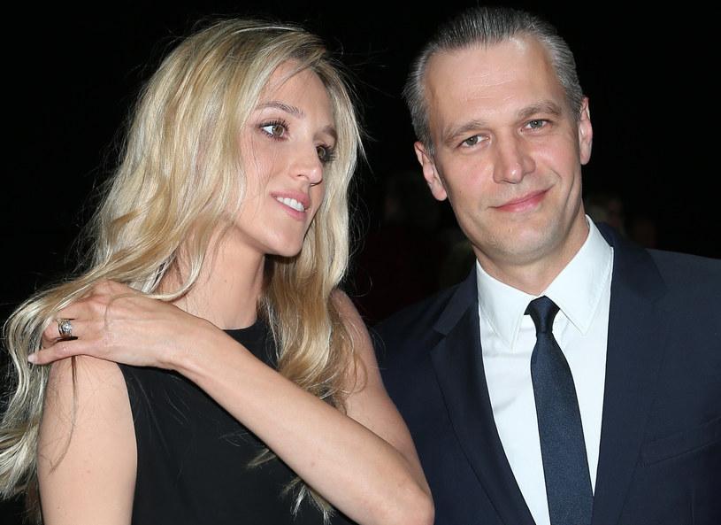 Michał Żebrowski z żoną /MWMedia