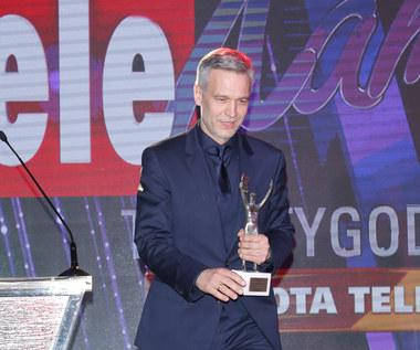 Michał Żebrowski ze Złotą Telekamerą 2018