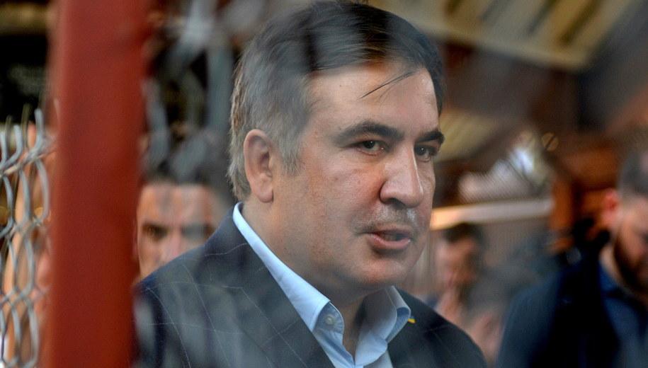 Micheił Saakaszwili w Przemyślu /Darek Delmanowicz /PAP