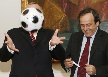Michel Platini (z prawej) /AFP