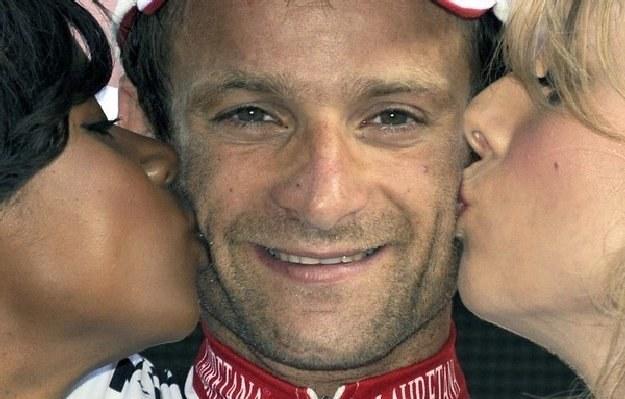 Michele Scarponi - zwycięzca wyścigu /AFP