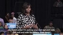 Michelle Obama po raz pierwszy wystąpiła z Hillary Clinton