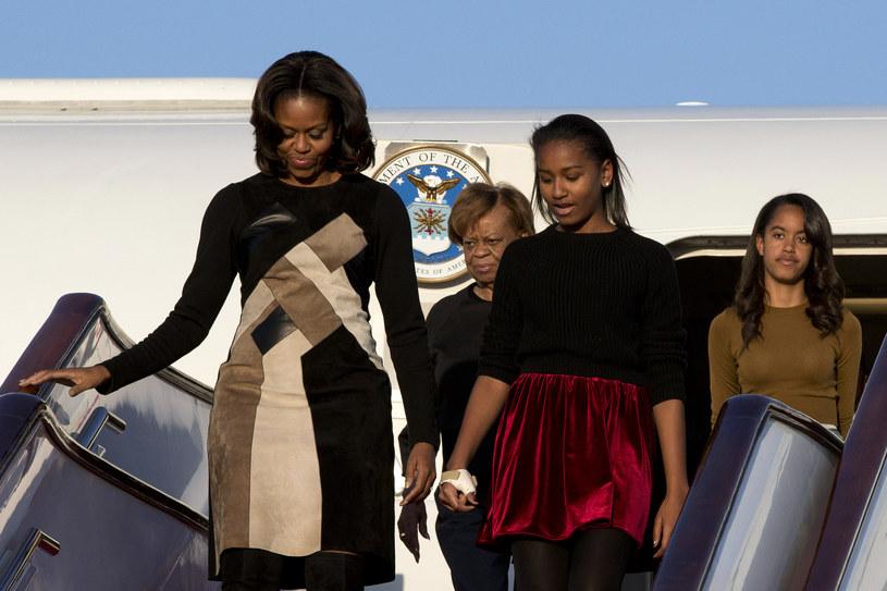 Michelle Obama z córkami i matką /AFP
