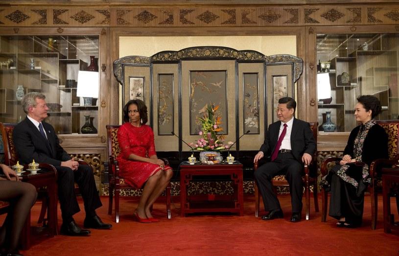 Michelle Obama zostanie w Chinach do środy. /AFP