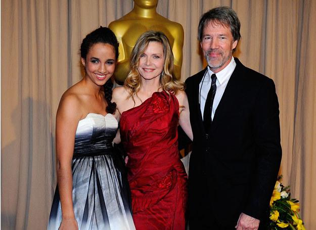 Michelle Pfeiffer z mężem i córką /Getty Images/Flash Press Media