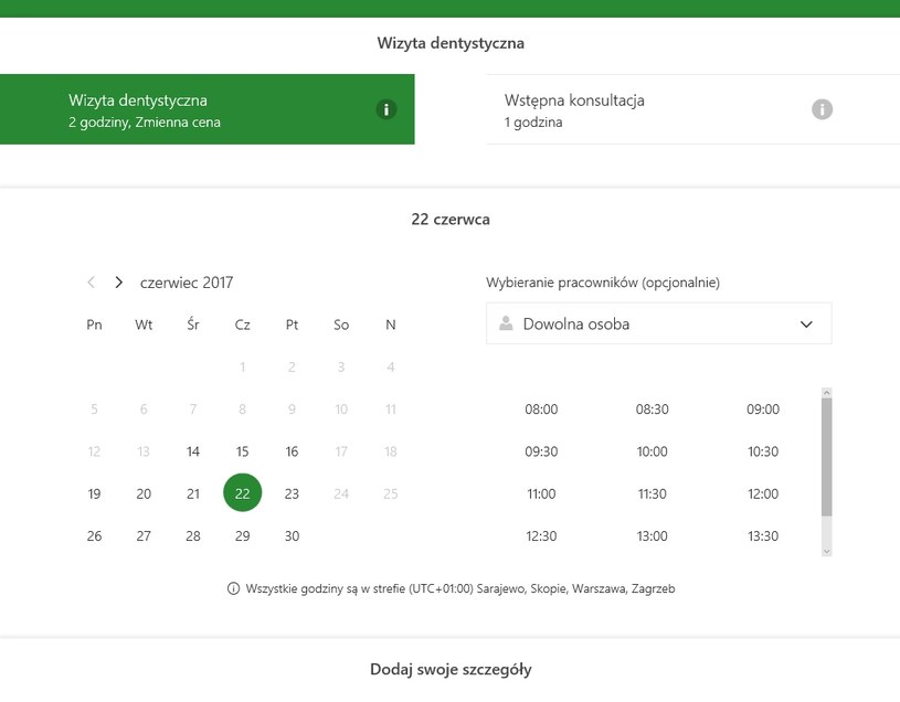 Microsoft Bookings /materiały prasowe