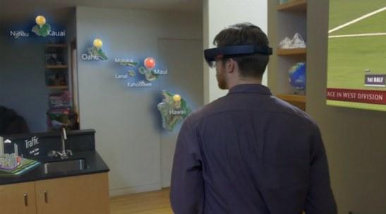 Microsoft HoloLens - czy tak będą wyglądały komputery jutra? /materiały prasowe