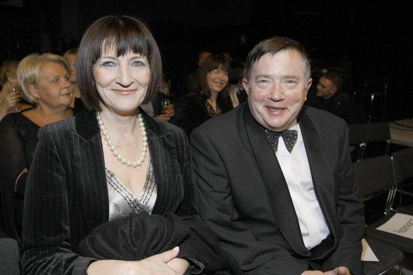 Mieczysław Hryniewicz z żoną Ewą Strebejko (2009 rok) /AKPA