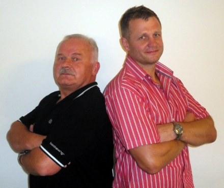 Mieczysław Nahunko (z lewej) i Andrzej Masewicz /Informacja prasowa