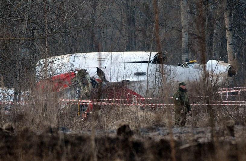 Miejce katastrofy prezydenckiego Tu-154M /AFP
