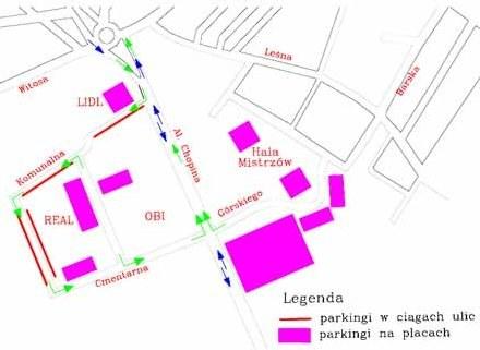 Miejsca parkingowe dla pojazdów osobowych usytuowane będą przy ul. Chopina /materiały prasowe