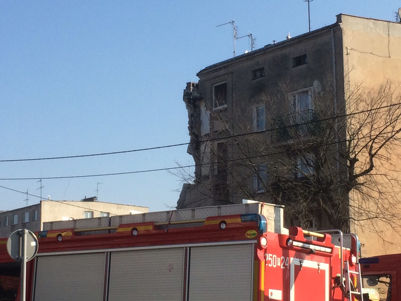 Miejsce, gdzie doszło do katastrofy budowlanej /Mateusz Chłystun /RMF
