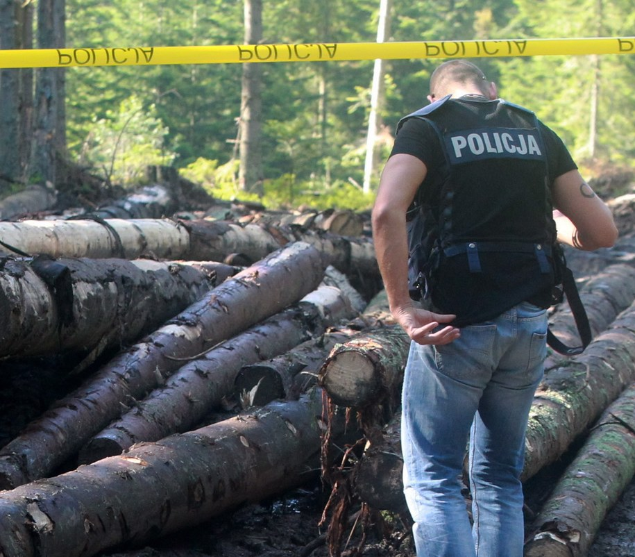 Miejsce, gdzie znaleziono 16-latka /Grzegorz Momot /PAP